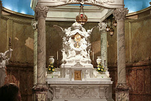 The baldachin of the Blessed Sacrament Chapel ...