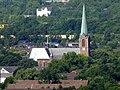 Blick vom Gasometer Oberhausen auf die kath. Kirche St. Josef in Buschhausen - panoramio.jpg