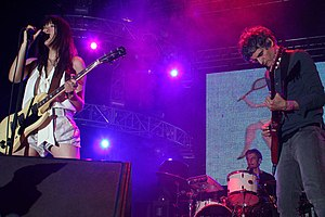 Blonde Redhead - Blonde Redhead performing at the Coachella Valley Music and Arts Festival in Indio, California, United States