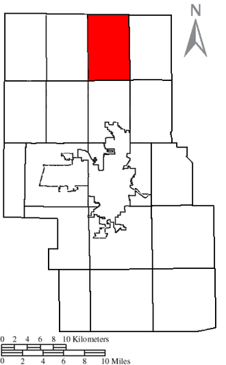 Blooming Grove Township, Richland County, Ohio - Location of Blooming Grove Township in Richland County.