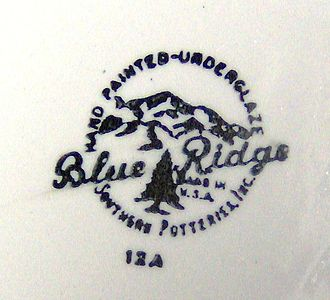 Blue Ridge (dishware) - Blue Ridge stamp