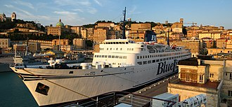 Blue Line International - M/S Ancona in Ancona Harbour, Italy, 2010.