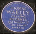 Blue plaque Thomas Wakley.jpg