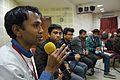 Bodhisattwa Mandal - Open Discussion - Collaboration among Bengali Language Wikipedians of Bangladesh and West Bengal - Bengali Wikipedia 10th Anniversary Celebration - Jadavpur University - Kolkata 2015-01-09 3022.JPG