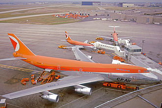 Canadian Pacific Air Lines - CP Air Boeing 747, Boeing 737 and Boeing 727 at Toronto Airport in 1975