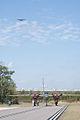 Boeing B-17G-85-DL Flying Fortress Nine-O-Nine over North American B-25J-15NC Mitchell Tondelayo CFatKAM 09Feb2011 (14983560302).jpg