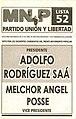 Boleta elecciones argentinas de 2003 - Unión y Libertad.jpg