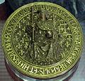 Bolla di luigi xii re di francia, napoli, gerusalemme e milano, oro, 1500-03.JPG
