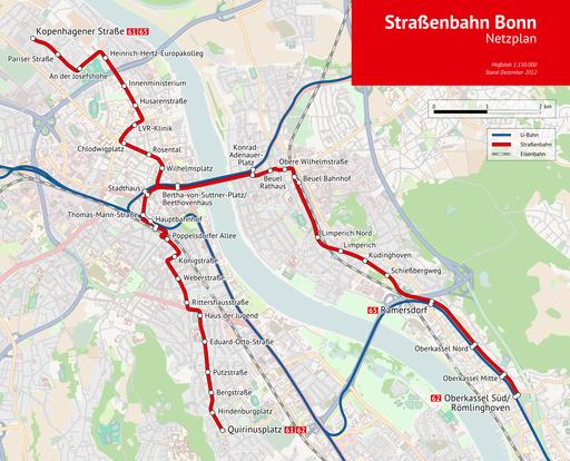 Bonn Strassenbahn Netzplan