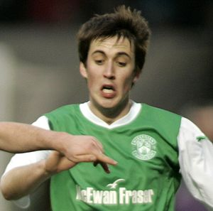 Callum Booth - Booth playing for Hibernian