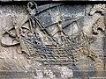 Borobudur - Divyavadana - 086 N, The Landing of Hiru and foundation of Hiruka (detail 3) (11706466016).jpg