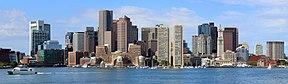 Centre-ville de Boston depuis le port de Boston