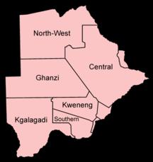 Botswana-Politik-Fil:Botswana districts named