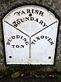 Boundary marker, Duddington (geograph 2124182).jpg