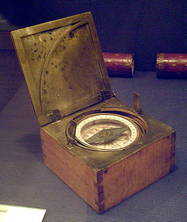 Azimuth compass nautical instrument that measures angles between celestial objects and magnetic north