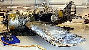 Lauri Pekuri - Pekuri's FAF BW-372 on display at the Aviation Museum of Central Finland