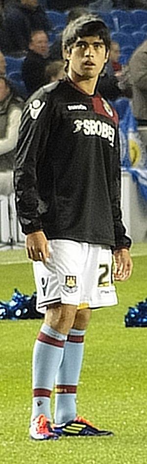 Brian Montenegro - Montenegro warming up for West Ham, October 2011