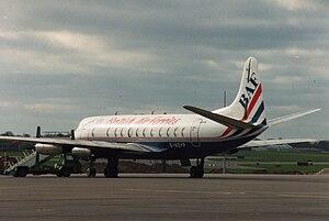 British United Air Ferries - British Air Ferries, Vickers Viscount at Dublin Airport in 1993