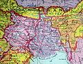 British India 1940 Assam Bihar Sikkim Arunachal Pradesh Mizoram Nagaland Tripura Burma Bhutan Map.jpg