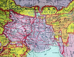 Nagaland - A British India 1940 map showing Nagaland and Kohima City as part of Assam.