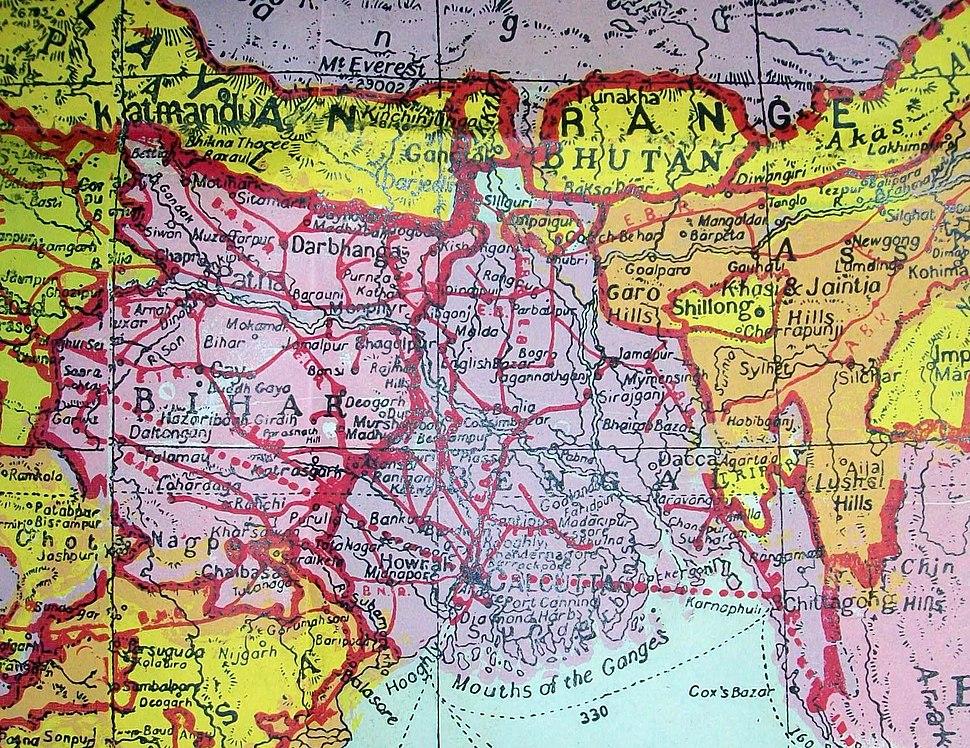 British India 1940 Assam Bihar Sikkim Arunachal
