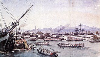 Imperialism - British assault on Canton during the First Opium War, May 1841