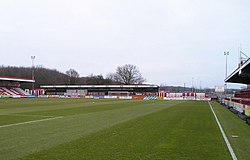 Broadhall Way, Stevenage Borough Football Club - geograph.org.uk - 1900263.jpg