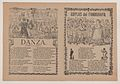 Broadsheet with two different songs showing a group of men huddled around a woman on the left and a group of people holding glasses on the right MET DP868413.jpg