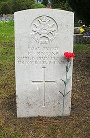 Bromsgrove cemetery CWGC Collins