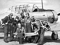 Brooks Field - Observation Cadets and Training Instructor with T-6.jpg