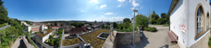 Panoramic view over the city of Bruchsal seen from the elevated position of the Andreas relay.