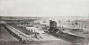 Brunswick dock London 1800s.jpg