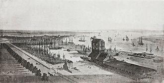 East India Docks - Brunswick Dock, which became the Export Dock