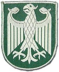 Ärmelabzeichen des Bundesgrenzschutzes von Oktober 1952 bis 1976
