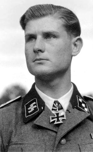 Untersturmführer - An SS-Untersturmführer of the Waffen-SS.