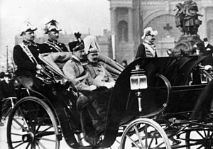 Christian X of Denmark - King Christian and the German Emperor during a visit to Berlin in 1913.