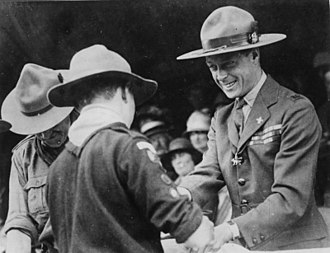 The Scout Association - Prince of Wales Edward VIII in scouting costume at 3rd World Scout Jamboree, 1929