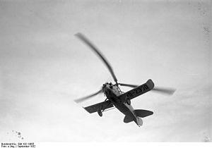 "Cierva C.19 - Cierva C.19 (Focke-Wulf C 19 ""Heuschrecke"") in flight"