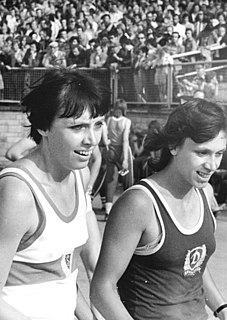 Romy Müller East German sprinter