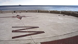 """Waterfront Trail - Spencer Smith Park's Waterfront Trail """"compass"""""""