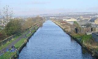 Burnley Embankment Waterway in the United Kingdom