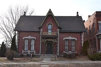 National Register of Historic Places listings in Buchanan County, Missouri - Image: Burnside Sandusky Gothic House, St. Joseph, MO