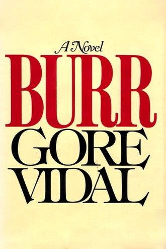 Burr (novel) - Cover of the first edition