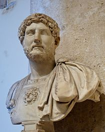 Marble bust of Hadrian.