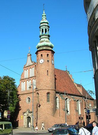 Gdańska Street in Bydgoszcz - Image: Bydgoszcz kosciół Klarysek lato