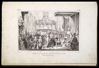 Cérémonie de sacre de D. Pedro 1er. Empereur du Brésil : à Rio de Janeiro, le 1er. Decembre 1822