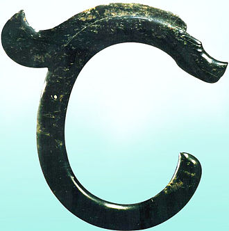 Hongshan culture - The C-shaped jade dragon of Hongshan Culture