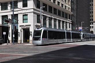 METRORail Purple Line - Image: CAF LRV at Main St