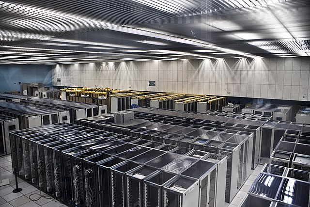 Server room in CERN (Switzerland)