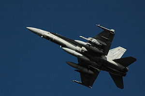 Aircraft canopy - CF-18 Hornet of the RCAF displaying a false canopy